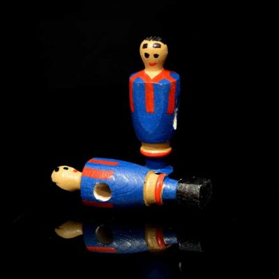 Jugador futbolín de madera Barcelona