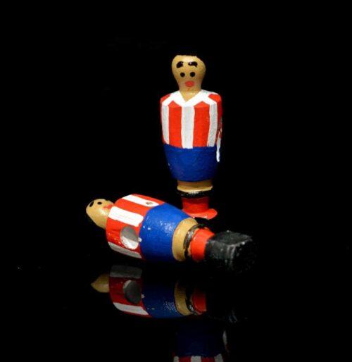 Muñeco futbolín de madera