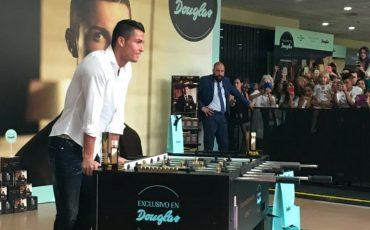 Evento de la marca Douglas, con Cristiano Ronaldo