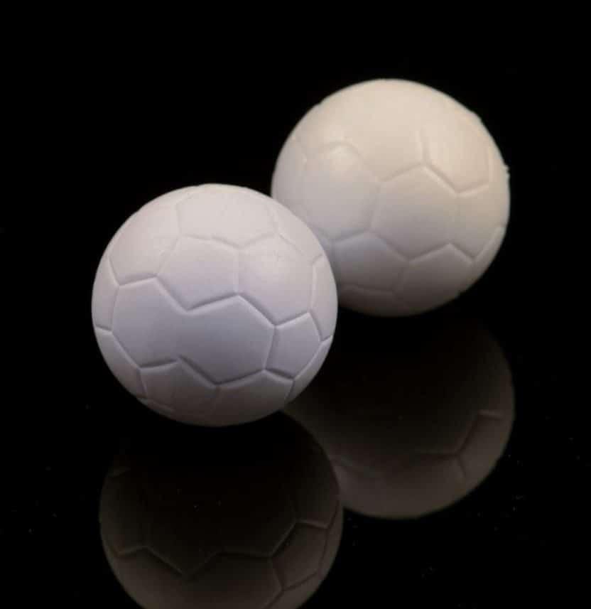 Bola blanca futbolín de madera