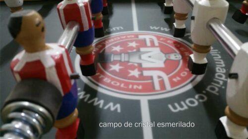 campo futbolín de cristal