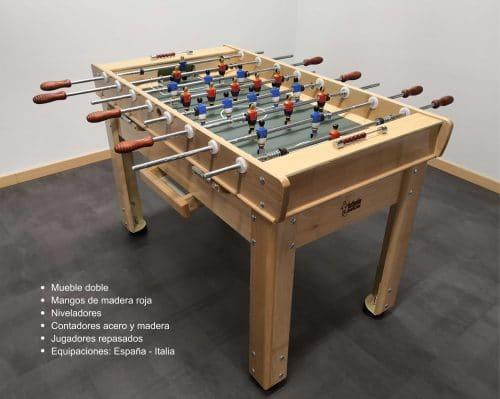 futbolín madera con niveladores