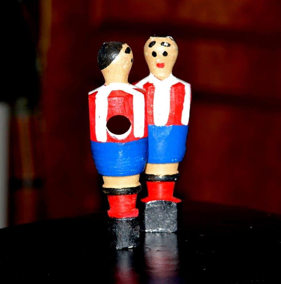 Matriz jugador futbolín de madera