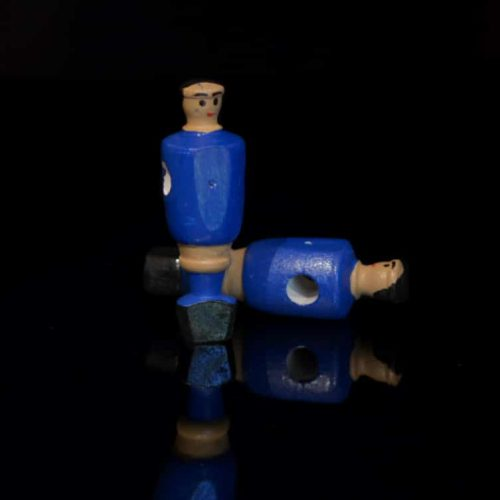 Portero futbolín de madera