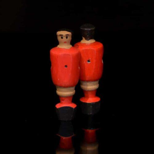 Portero futbolín rojo