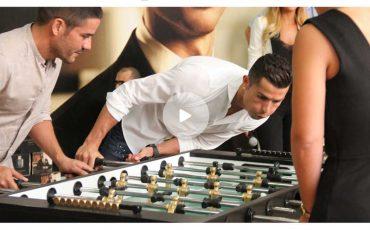 Cristiano Ronaldo no pierde ni al futbolín