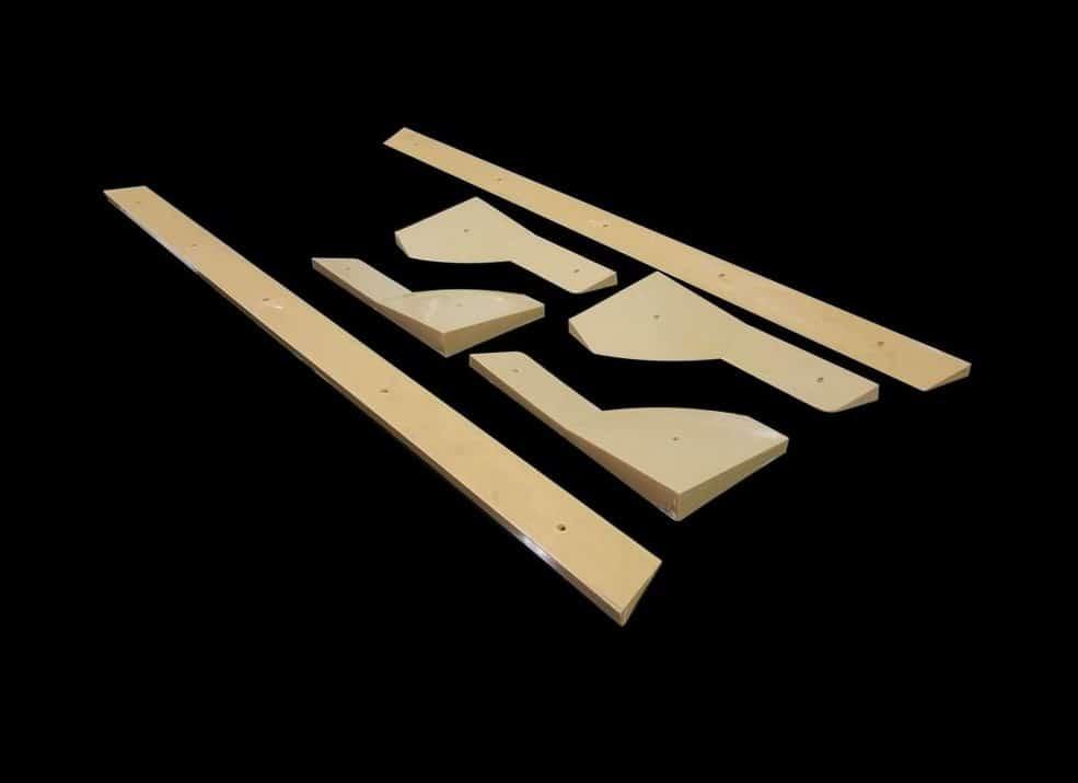 Bandas futbol n de madera fabricadas en pl stico inyectado for Futbolin madera bar