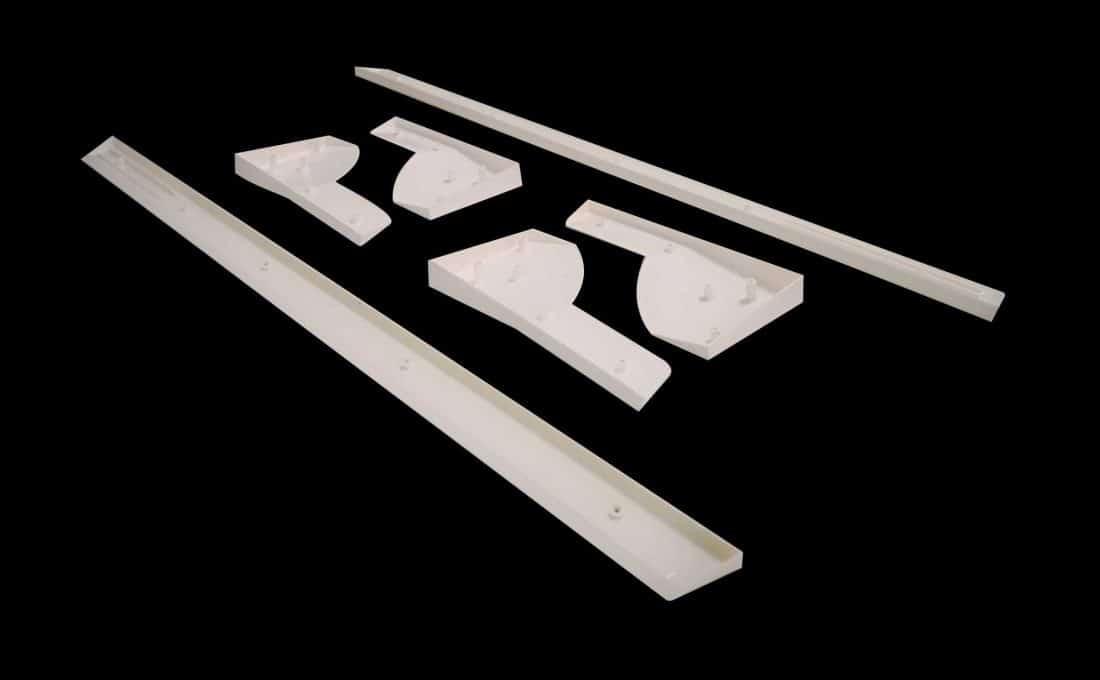 Bandas futbol n de madera pl stico blanco federaci n for Futbolin madera bar