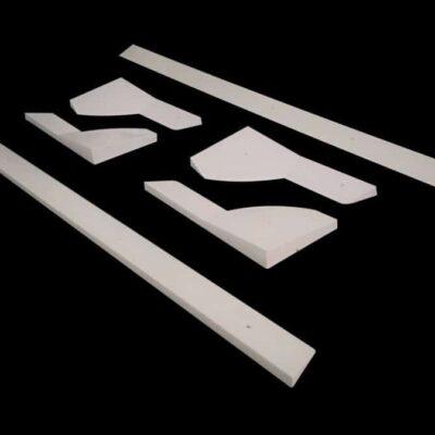 bandas de plástico blanco
