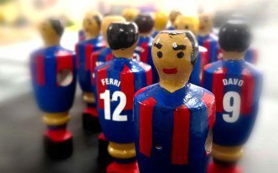 Jugadores de futbolín personalizados