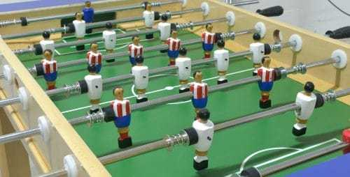 Futbolín madera haya sin monedero