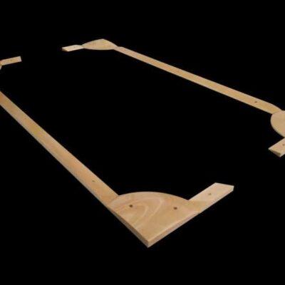 bandas de madera futbolín