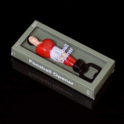 Abrebotellas jugador futbolín rojo