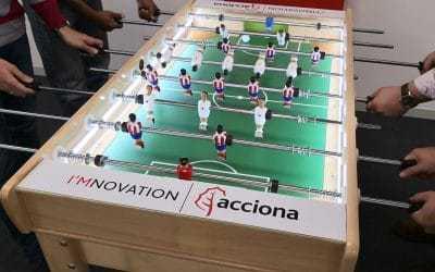 Futbolín personalizado para Acciona
