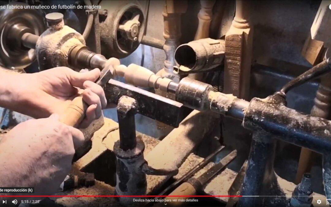 Cómo se fabrica un muñeco de futbolín de madera