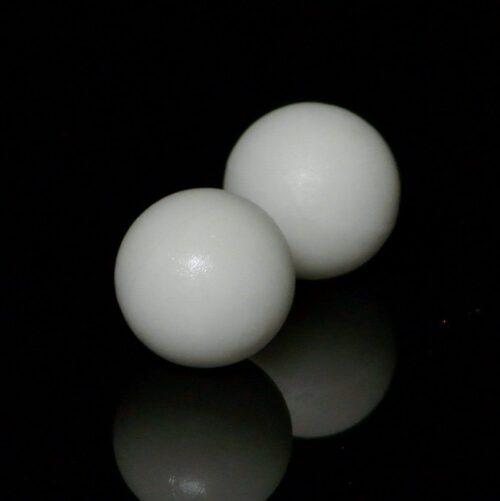 Bola futbolín blanca dura